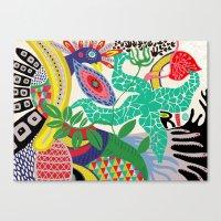 rio de janeiro Canvas Prints featuring rio de janeiro 1 by Maca Salazar