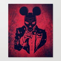 mickey Canvas Prints featuring Mickey by Spyck
