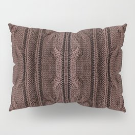 Brown braid jersey cloth texture abstract Pillow Sham