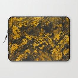 Black Ink on Yellow Background Laptop Sleeve