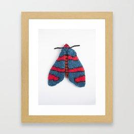 Knitted Fire Grid Burnet Moth Framed Art Print