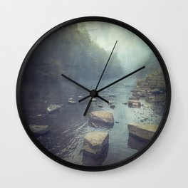 Stones in A River Wall Clock