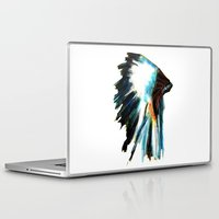 headdress Laptop & iPad Skins featuring Headdress by James Peart