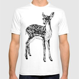 Ink drawing of a fawn T-shirt