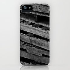 Abstract Wooden Pallets Slim Case iPhone (5, 5s)