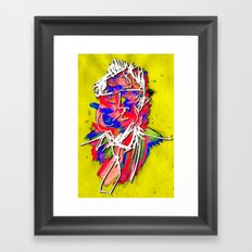 At The Cubicle Framed Art Print