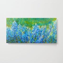 Bluebonnet Panorama Metal Print