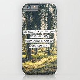 Dirt Paths iPhone Case