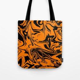 Black orange background. Tote Bag