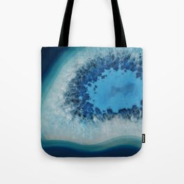 Agate Crystal Blue Tote Bag