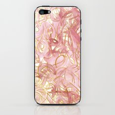 Outlined Scribbles - Pink and Gold iPhone & iPod Skin