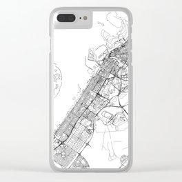 Dubai White Map Clear iPhone Case