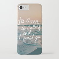 leah flores iPhone & iPod Cases featuring The Ocean is Calling by Laura Ruth and Leah Flores by Leah Flores