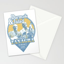 Darmok and Jalad at Tanagra - Blue Stationery Cards