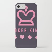 poker iPhone & iPod Cases featuring Poker king by Ante Penava