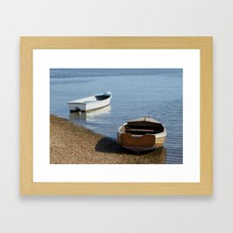 Row Boats Framed Art Print