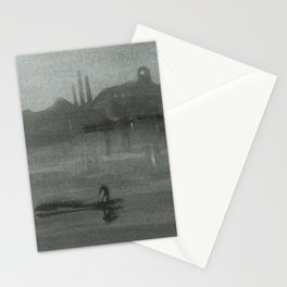 Nocturne - The Thames at Battersea by James McNeill Whistler Stationery Cards