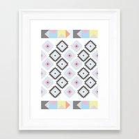 kilim Framed Art Prints featuring Kilim Print by Wayward Broad Studio