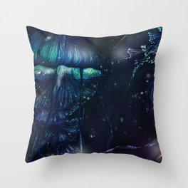 jellyfish night Throw Pillow
