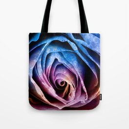 Abstract Acrylic Rose Tote Bag