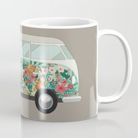 hippie Mugs featuring Hippie van by eARTh