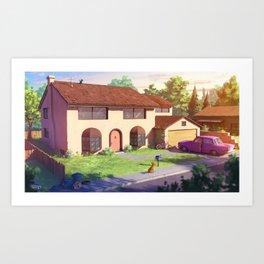 The Simpsons house Art Print