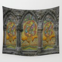 doors Wall Tapestries featuring Doors by Nicholas Bremner - Autotelic Art