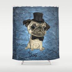 Pug; Gentle Pug (color version) Shower Curtain