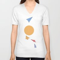 planes V-neck T-shirts featuring Paper Planes by sandrine