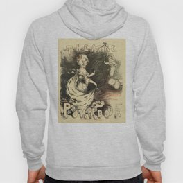 Vintage 1898 French theatre advertising Hoody