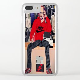 To Ball Or Not To Ball Clear iPhone Case