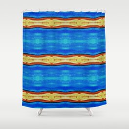 Waves abstract Shower Curtain