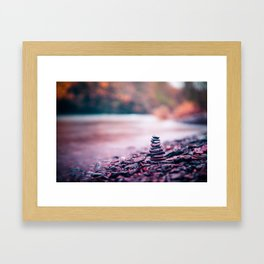 Pebble Stack Framed Art Print
