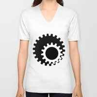 gears of war V-neck T-shirts featuring Gears Again by Hatton Custom Design