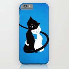 White And Black Cats In Love iPhone 6s Slim Case