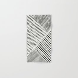 Black and White Stripes, Abstract Hand & Bath Towel