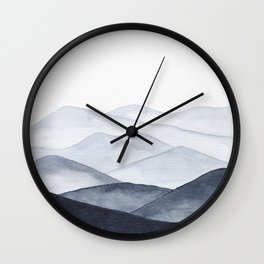 Watercolor Mountains Wall Clock