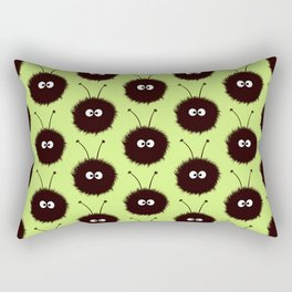 Green Cute Dazzled Bugs Pattern Rectangular Pillow