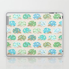 Hedgehog polkadot in green and blue Laptop & iPad Skin
