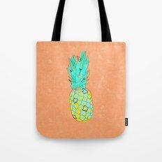 Neon Pineapple in Orange Tote Bag
