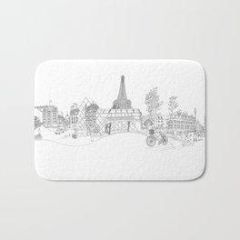 Paris! Version#1 Bath Mat
