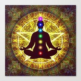 In Meditation With Chakras - Spiritual I Canvas Print
