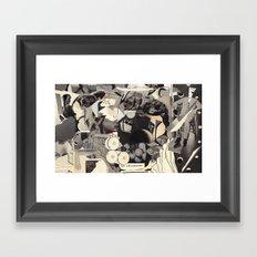 felt self-conscious Framed Art Print