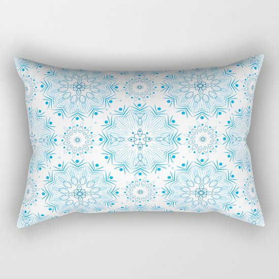 Winter . White and blue Rectangular Pillow