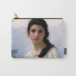 """William-Adolphe Bouguereau """"Meditation"""" Carry-All Pouch"""
