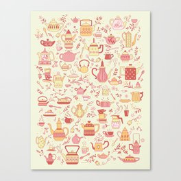 Teapots #5 Canvas Print