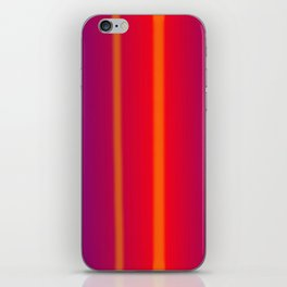 orange verticals iPhone Skin