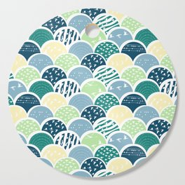 Fish Scale Birds Cutting Board