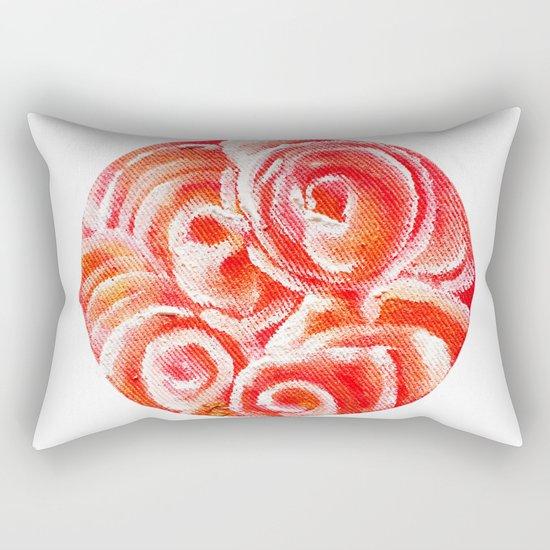 Peach Plum Dreams Rectangular Pillow