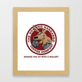 Boxing Kangaroo Coffee Company Framed Art Print
